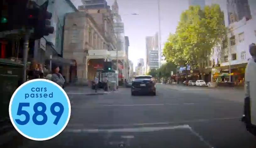 Quantos carros você ultrapassa no seu trajeto? Esse australiano resolveu contar: 589. Imagem: Tim Goldby/Reprodução