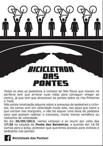 bicicletada das pontes 2013