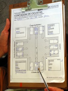 Planilhas permitiram anotar rapidamente diversas características dos deslocamentos. Foto: Camilo Zorrilla