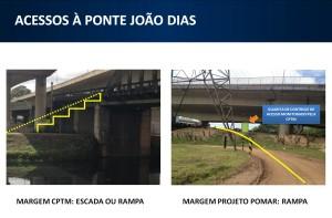 Ponte será utilizada para cruzar o rio. Imagem: Metrô/Reprodução
