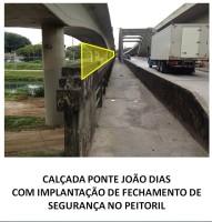 Um alambrado será colocado na lateral da passarela, para impedir quedas. Imagem: Metrô/Reprodução