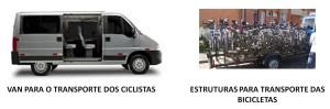 Enquanto as soluções acima são constrúiodas, uma van com uma carreta rack transportará ciclistas e suas bicicletas através da área da obra. Imagem: Metrô/Reprodução
