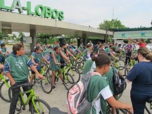 Pedala Zezinho levou 150 crianças da periferia para pedalar no Parque Villa-Lobos. Foto: Aromeiazero/Divulgação
