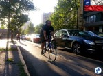 Hora do rush em Santiago: carros parados, bicicletas fluindo. Foto: Willian Cruz