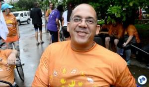 """Valdir Gonçalves: """"acessibilidade não é somente rampa"""". Foto: Rachel Schein"""
