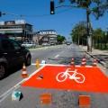 Bike box na Av. Adalberto Simão Nader. Repare que há outro na próxima esquina. Foto: André Sobral/PMV