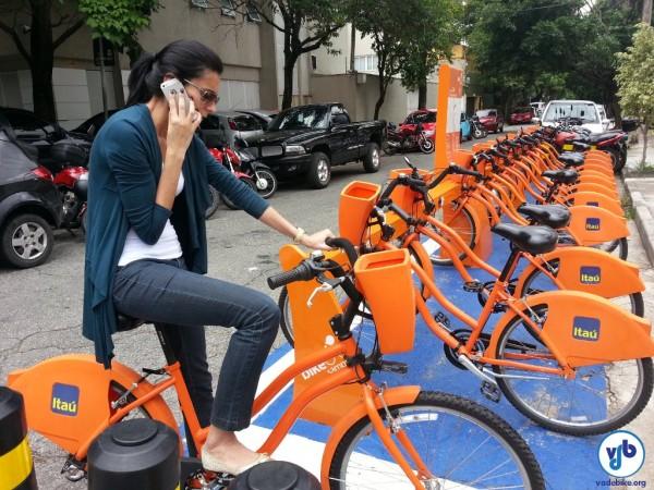 Período de gratuidade no uso do Bike Sampa passa a ser de uma hora. Foto: Willian Cruz