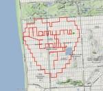 """Feito na """"pedalada"""", pedido de casamento ficou registrado em mapa. Imagem: Reprodução/Strava"""