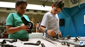 "Oficina ""Bicicloides"" agrada crianças e adolescentes. Foto: Rachel Schein"