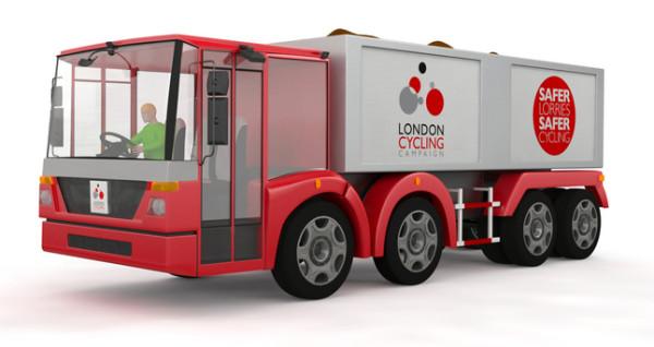 Entidade pró-ciclista projeta caminhão urbano mais seguro para as ruas da capital inglesa