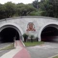 Túnel adaptado para a passagem de ciclistas em Santos-SP. Foto: Guilherme Moraes da Silva