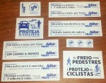 Adesivos do Vá de Bike serão distribuídos aos participantes. Venha buscar o seu!