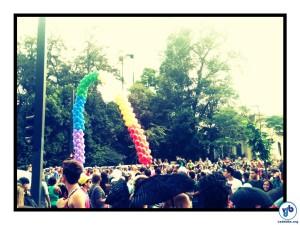 Senso de proteção: nem Parada Gay, evento que levou um milhão de pessoas para a Paulista, colocou em risco a integridade da horta. Foto: Rachel Schein