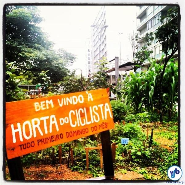 Horta do ciclista, na avenida Paulista, é um respiro num dos lugares mais impermeabilizados da cidade. Foto: Rachel Schein