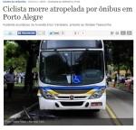 Primeira morte ocorreu por volta das 8h00. Patrícia Figueiredo foi atingida por um ônibus enquanto atravessava o corredor na faixa de pedestres. Foto: reprodução/internet