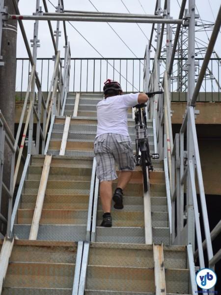 Forte ângulo de inclinação é o principal problema dos novos acessos. Foto: Rachel Schein