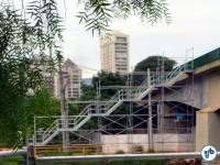 Visão lateral de um dos novos acessos, na Ponte Cidade Jardim. Foto: Rachel Schein