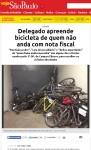 Depósito onde as bicicletas apreendidas foram guardadas têm modelos simples em sua maioria. Imagem: Veja SP/Internet/Reprodução