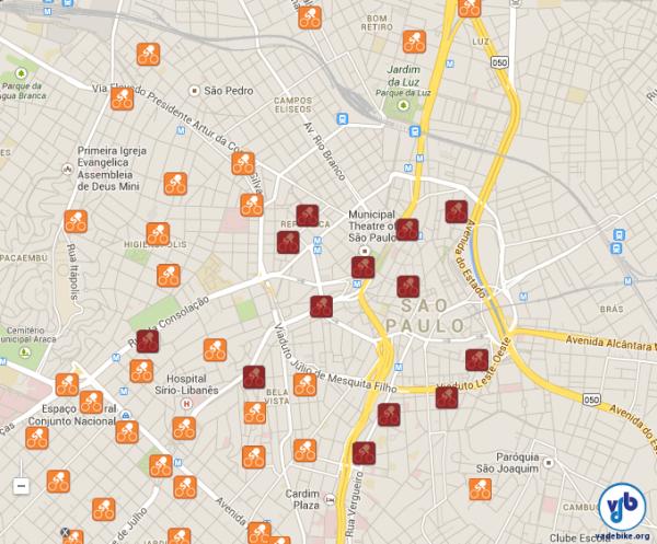 Treze estações estão em processo de desativação. Imagem: arte VdB sobre Google Maps