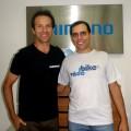 João Magalhães, da Shimano, e Willian Cruz, do Vá de Bike. Foto: Divulgação