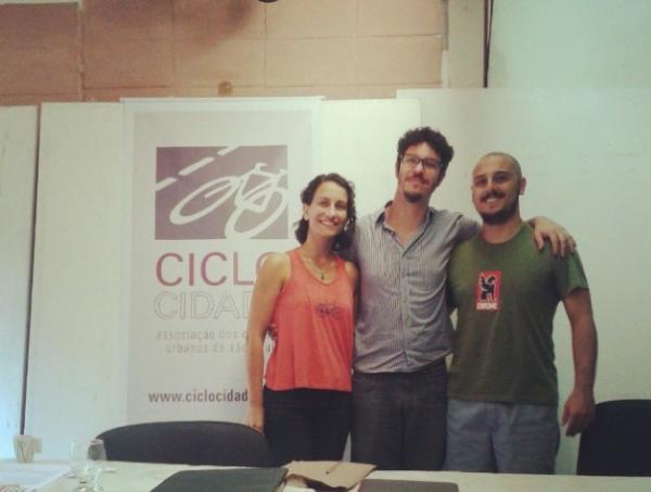 Maira, Gabriel e Carlos: nova diretoria terá desafios importantes durante os dois próximos anos à frente da associação. Foto: Reprodução/Ciclocidade
