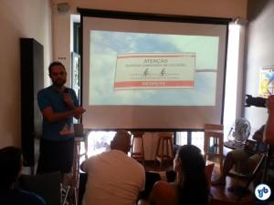 Goura Nataraj apresentou a Cicloiguaçu e os avanços e desafios da bicimobilidade em Curitiba. Foto: Willian Cruz