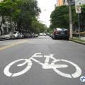 Ciclorrota: infraestrutura simples e de baixo custo ajuda a aumentar segurança e conforto dos ciclistas. Foto: Willian Cruz