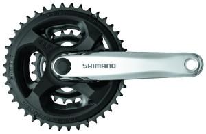 A maioria das mountain bikes tem três coroas, o que significa três posições possíveis para o câmbio dianteiro.