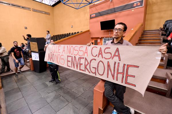 """Ciclistas apelam para que vereadores não cortem recursos para ciclovias e educação no trânsito: """"que a nossa casa não nos envergonhe"""". (Foto: Ederson Nunes/CMPA)"""