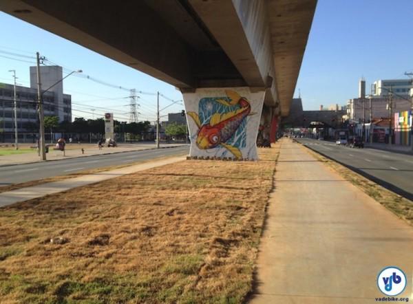 Trecho do corredor verde da zona norte: projeto receberá investimentos de R$ 1,165 milhão e tem previsão de término para o fim de 2014. Foto: Enzo Bertolini