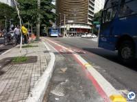 Separação física será feita com tachões e balizadores. Foto: Willian Cruz