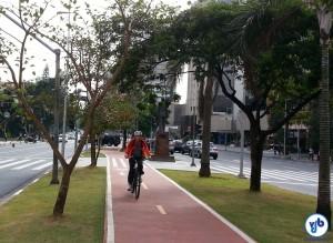 Padrão de ciclovia adotado na Av. Faria Lima tem custo elevado. Foto: Willian Cruz