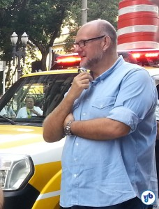 Tonobohn acompanha de perto a implantação de ciclovias na cidade. Na foto, participava da vistoria do trecho piloto do novo padrão de ciclovias, no centro de São Paulo. Foto: Willian Cruz
