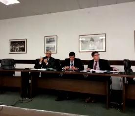Da esquerda para a direita, os vereadores Police Neto, Floriano Pesaro e Nabil Bonduki.