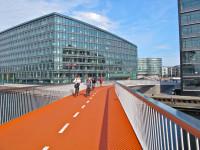 Ciclovia suspensa de Copenhague tem quatro metros de largura e 190 de comprimento. Foto: Sandra Hoj