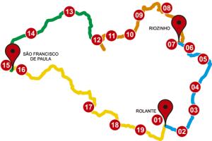 Circuito passa pelas três cidades. Imagem: Reprodução