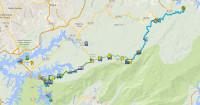 mapa rota caminho do sal cicloturismo