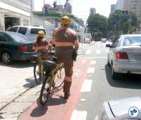 Fiscalização a infrações será feita também em bicicletas na cidade de São Paulo. Foto: Priscila Cruz