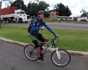 Zalan Lima, ciclista que teve a iniciativa de começar o mapa colaborativo. Foto: arquivo pessoal