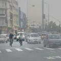 ciclistas na avenida destaque