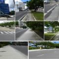"""""""Ciclovia fantasma"""" - ou calçada refeita - não é usada por ciclistas e nem por pedestres que antes passavam por ali. Foto: Pedala Manaus"""