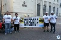 Equipe do Instituto CicloBR aguardava os participantes na prefeitura. Foto: Willian Cruz