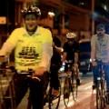O secretário de Transportes pedalou também em vias que não contam com ciclovias. Foto: Rachel Schein
