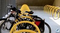 Bicicletário na estação Vila Prudente do Monotrilho. Foto: Rachel Schein