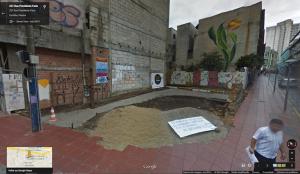 Terreno da Praça de Bolso antes da reforma. Foto: Reprodução/CicloIguaçu