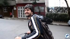 "Frederico Haddad foi à faculdade de bicicleta: ""vi que era tranquilo"". Foto: Rachel Schein"