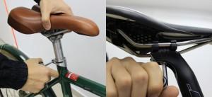 Ajustes de altura e inclinação do selim. Foto: Shimano/Vá de Bike