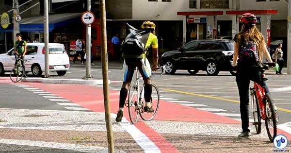 Mais de mil ciclistas foram contados na Vergueiro entre as 6h e 20h do dia 16 de setembro, uma terça-feira. Foto: Rachel Schein