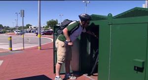 Bike shelter em Perth, Austrália. Foto: Reprodução