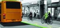 Iluminação indicará prioridade de pedestre sobre ciclista. Imagem: City of Copenhagen